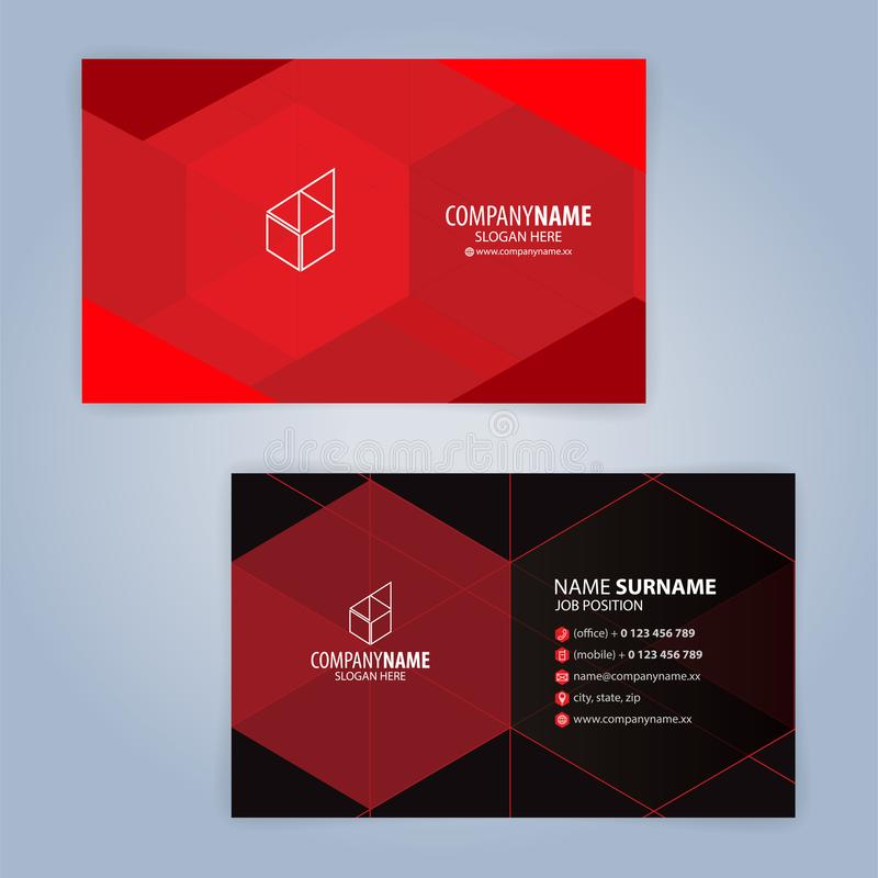 Red and black modern business card template stock vector download red and black modern business card template stock vector illustration of blank layout wajeb Choice Image