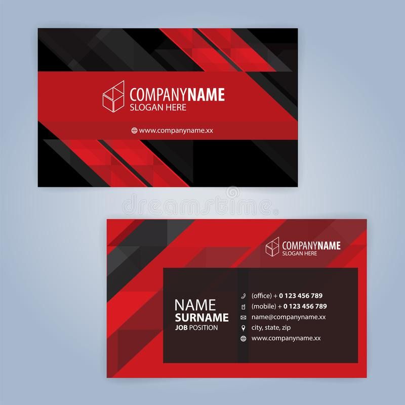Red and black modern business card template stock vector download red and black modern business card template stock vector illustration of modern background cheaphphosting Gallery