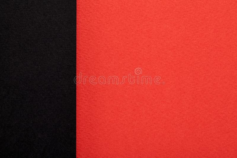 Red and black paper texture. Close Up stock images