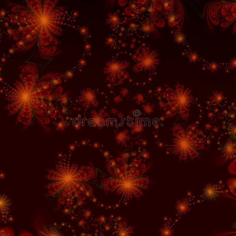 Red and Black Star Abstract background design or wallpaper stock illustration