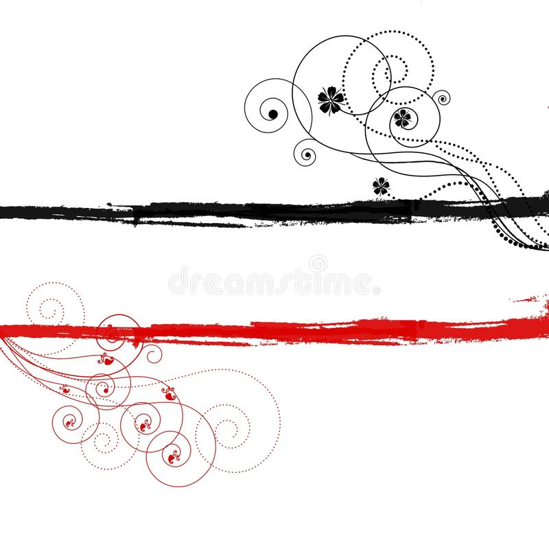 Free Red Black Swirls Copyspace Background Royalty Free Stock Photography - 14197647