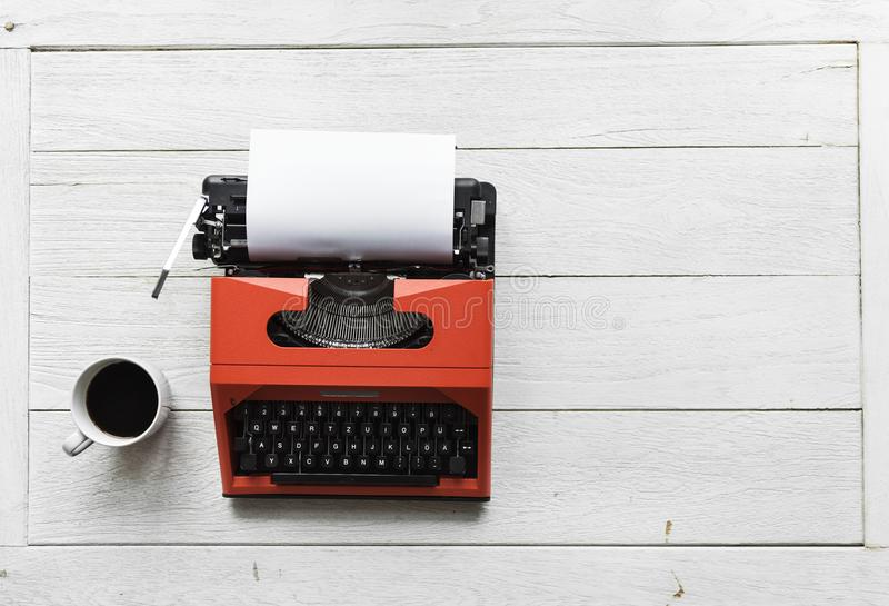 Red and Black Typewriter stock photography