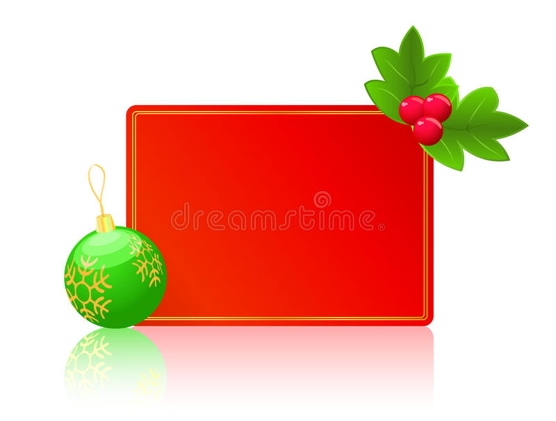 Download Red Blank Card. Christmas New Year Concept Stock Illustration - Image: 16856702