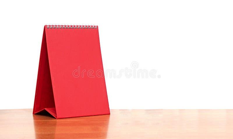 Red blank desktop calendar royalty free stock photography