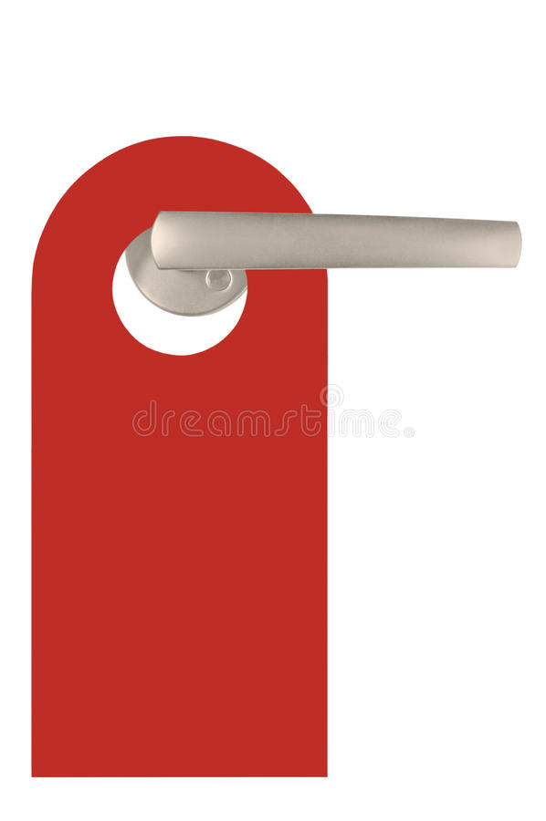 Red Blank Isolated Do Not Disturb Door Tag stock image