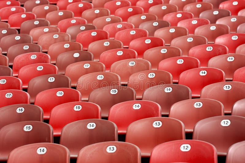 Red Bleachers Royalty Free Stock Photo