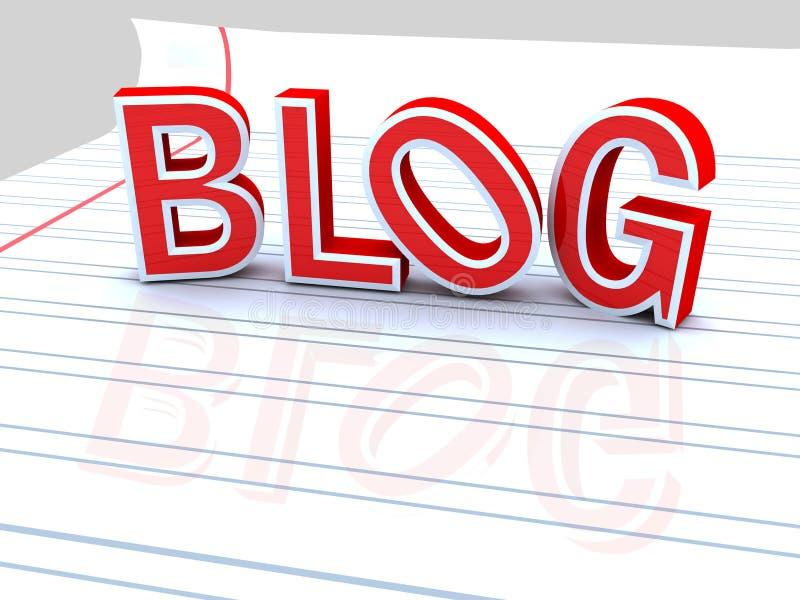 Download Red blog stock illustration. Illustration of illustration - 12041008