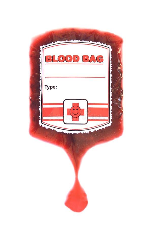 Red blood bag iv royalty free stock image