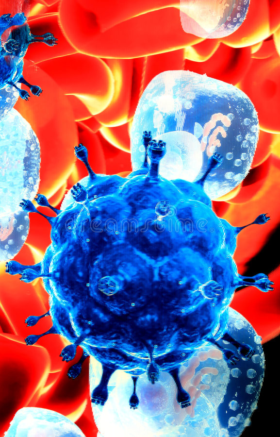 Download Red blood cells and germs stock photo. Image of danger - 3025472