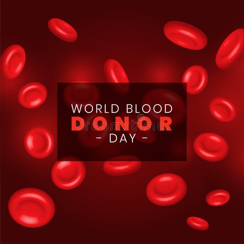 Red blood cells rbc background stock illustration