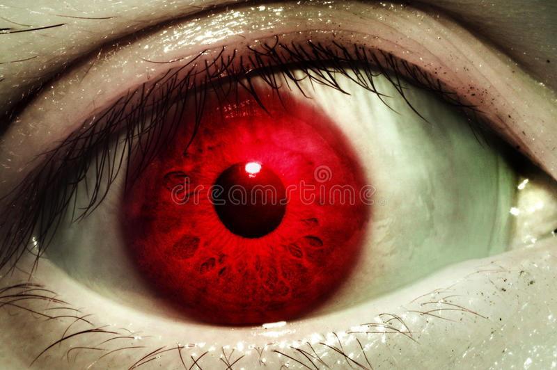 Red blood eye royalty free stock photos