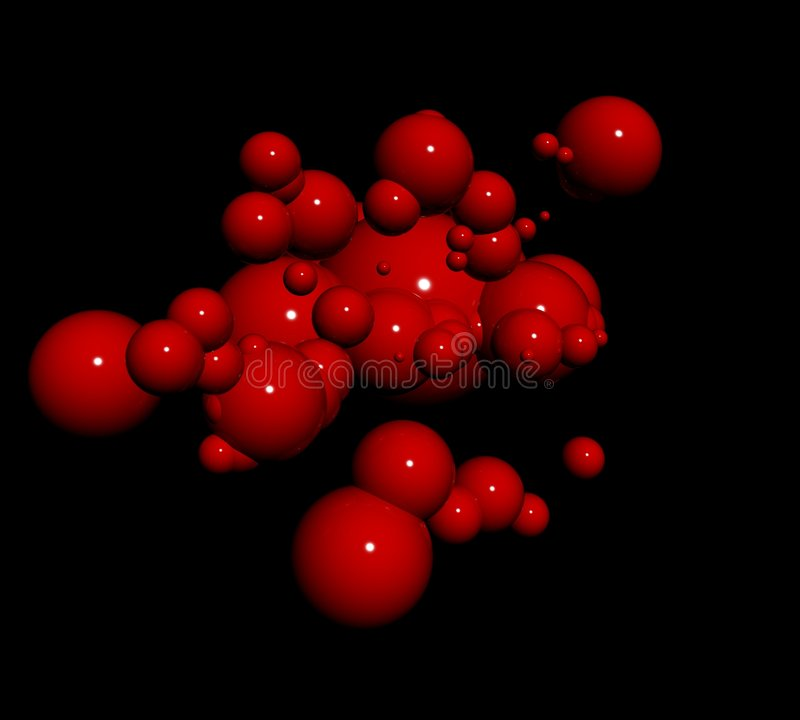 Red blood particles stock image