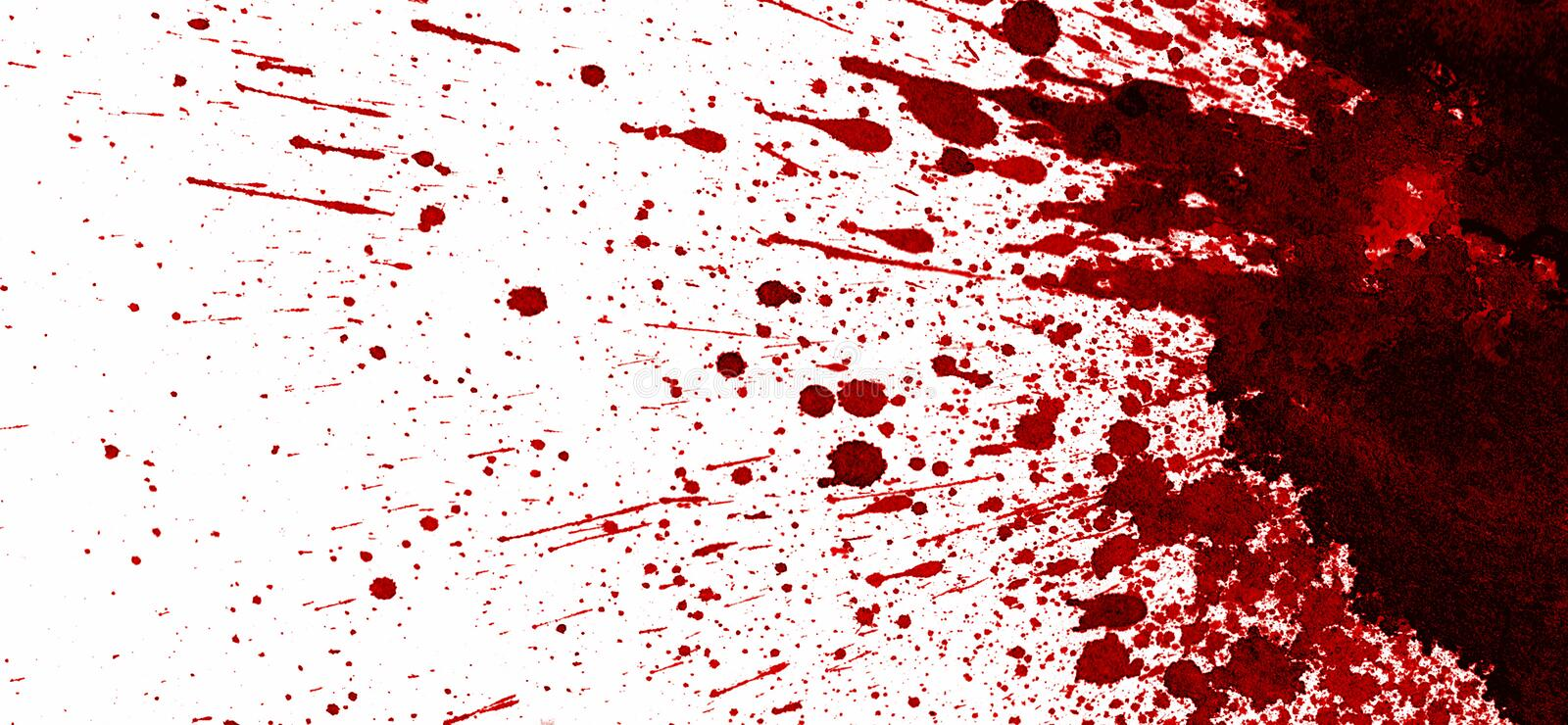 Red blood stain on white royalty free illustration