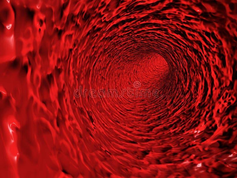Red blood vessel royalty free illustration