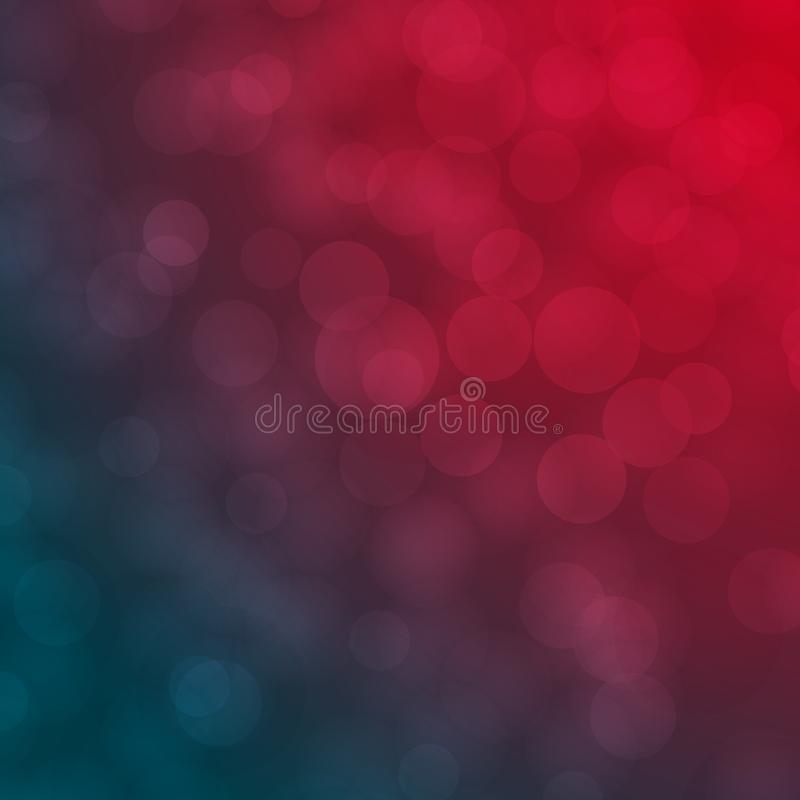 Red and Blue abstract blurred Bokeh vector background royalty free illustration