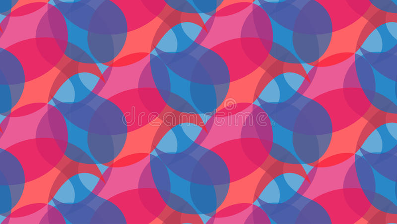 Red and blue abstract shapes pattern stock photo