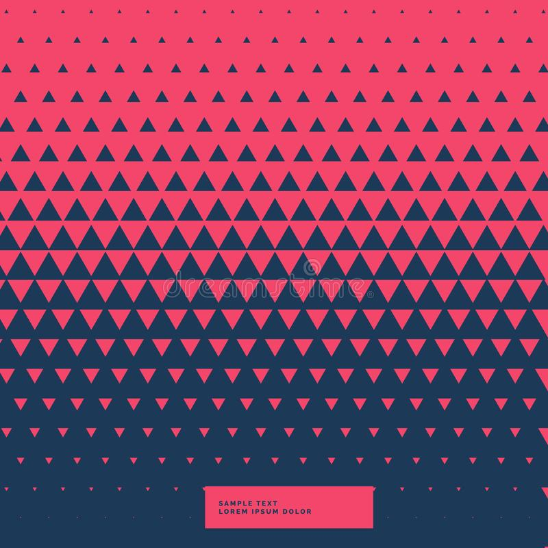 Red and blue abstract triangle background royalty free illustration