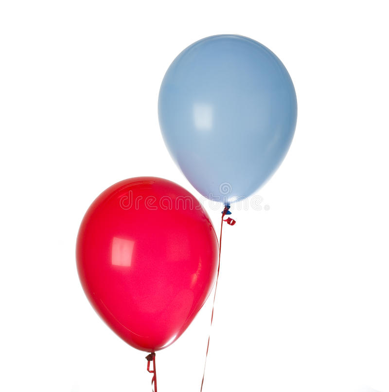 Red and blue Balloon isolated royalty free stock photos