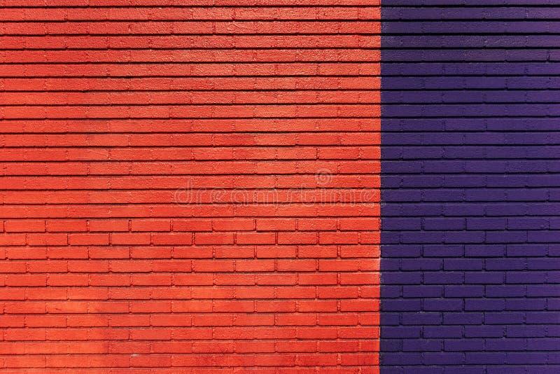 Red blue brick wall royalty free stock photos