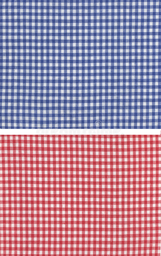 Red blue checkered stock photography