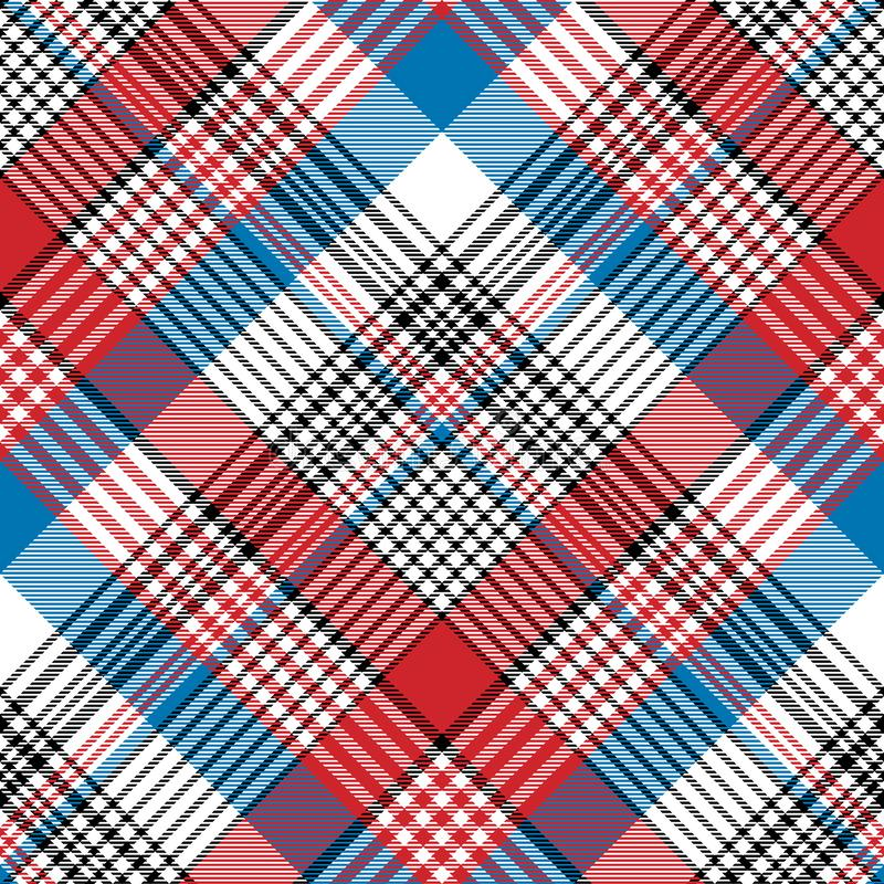 Red blue fabric texture check plaid seamless pattern royalty free illustration