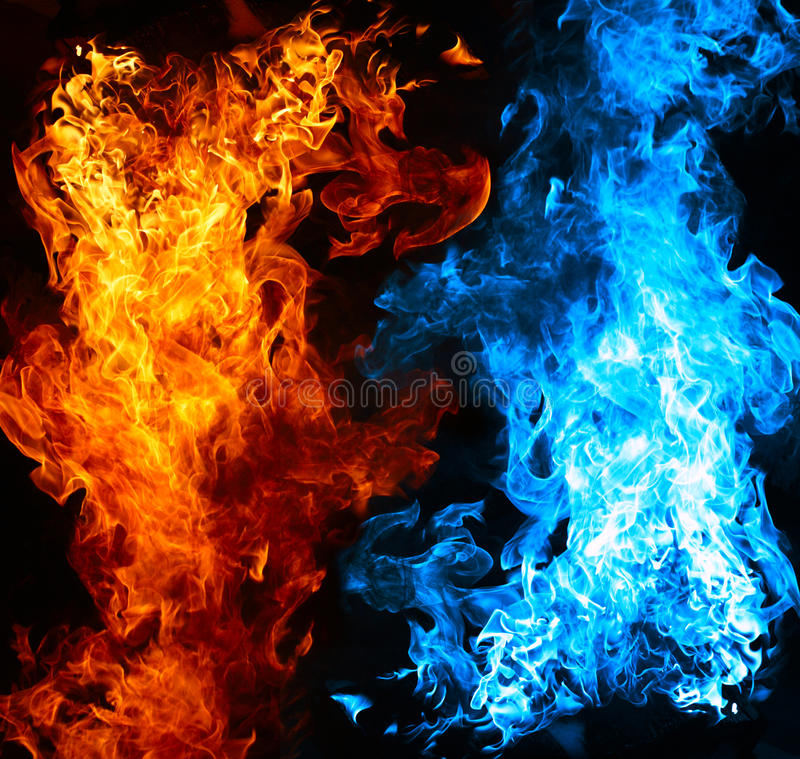 Download Red And Blue Fire Stock Photography - Image: 16762772