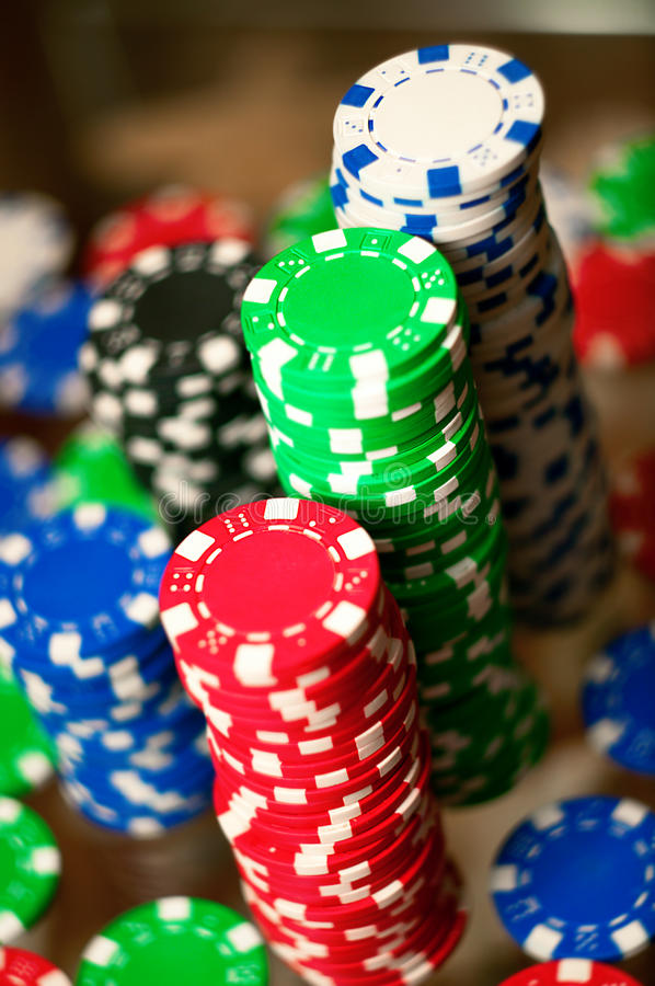 Download Red, Blue, Green And Black Casino Tokens Stock Photo - Image: 25197150