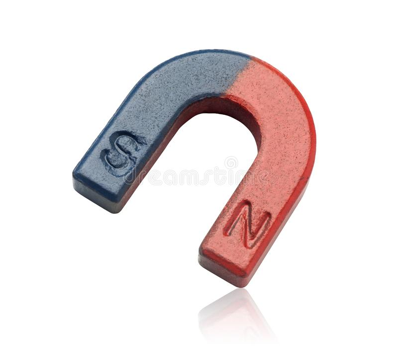 red and blue horseshoe magnet royalty free stock photos