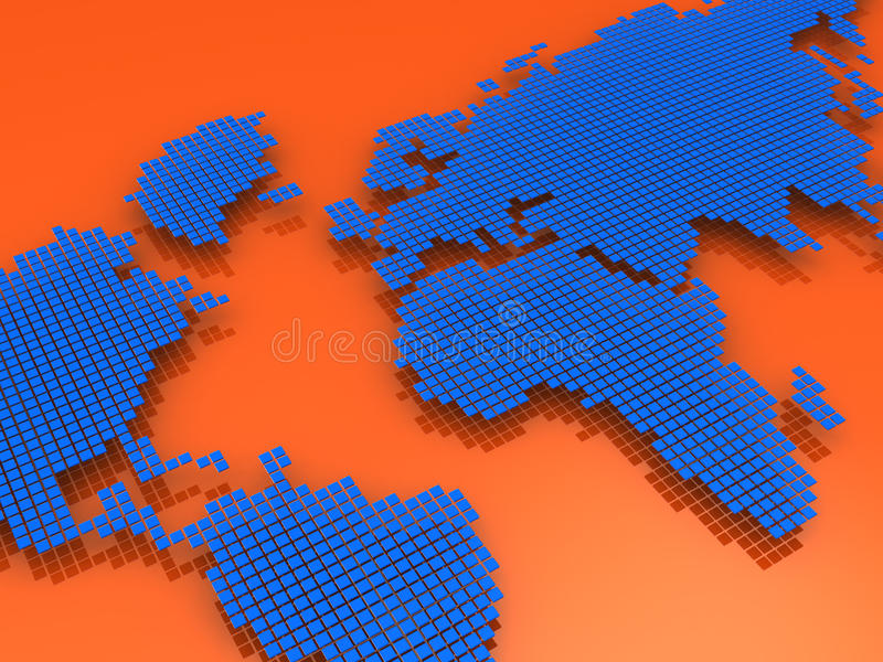 Download Red and blue map stock illustration. Image of orientation - 27044294