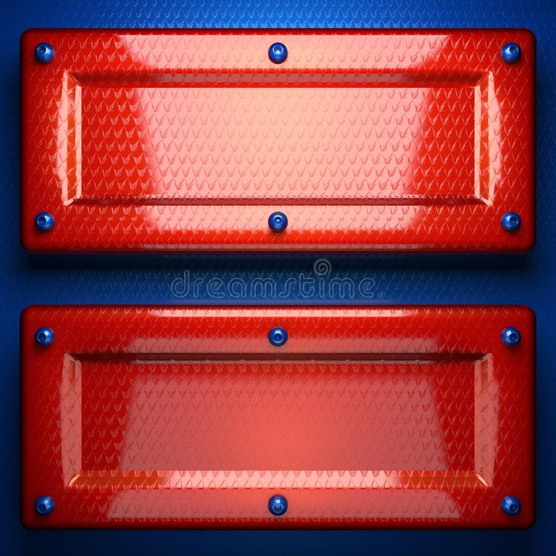 Red and blue metal background royalty free stock photos