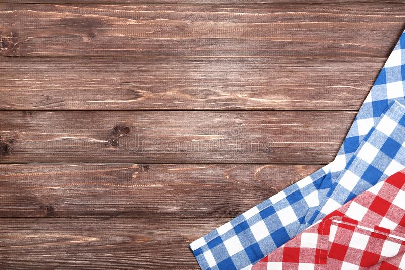 Red and blue napkins royalty free stock photo