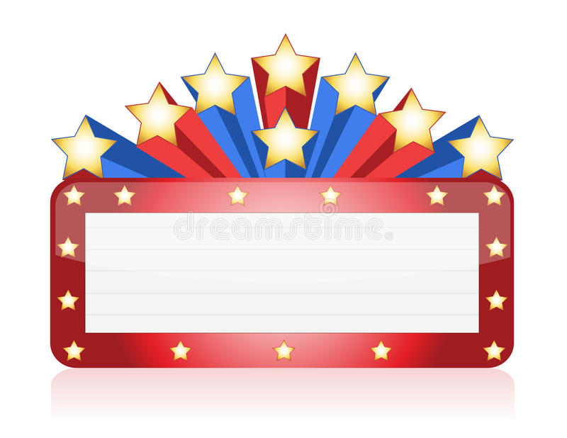 Red and blue Neon theater vector illustration