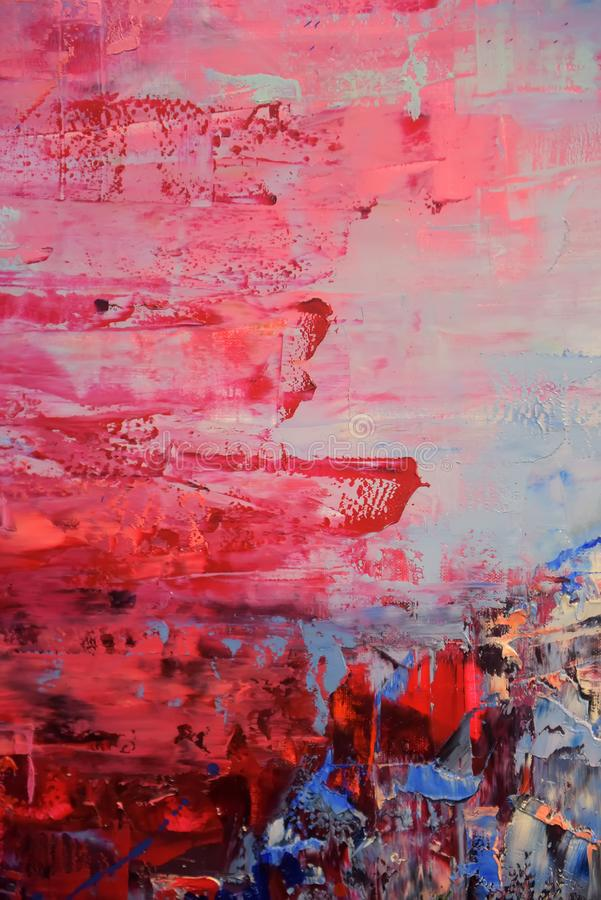 Red and blue oil paint background royalty free stock image