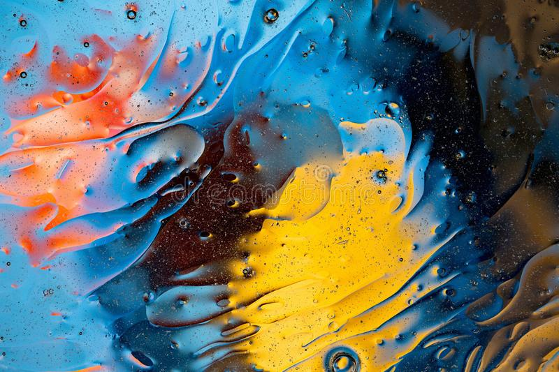 Red, blue, orange, black, yellow colorful abstract design, texture. Beautiful backgrounds. stock image