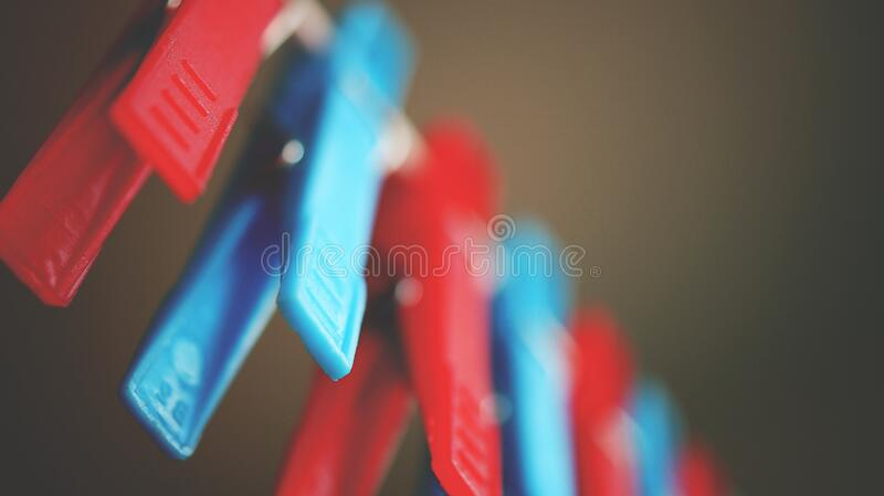 Red And Blue Plastic Pegs Free Public Domain Cc0 Image