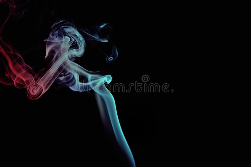 Red and Blue Smoke royalty free stock images