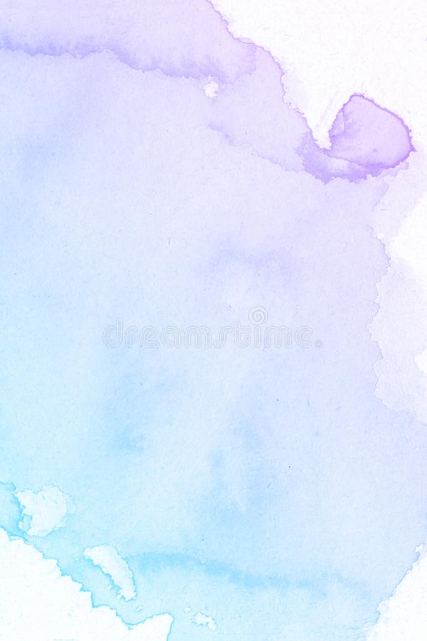 Red-blue spot, watercolor abstract hand painted background royalty free stock images