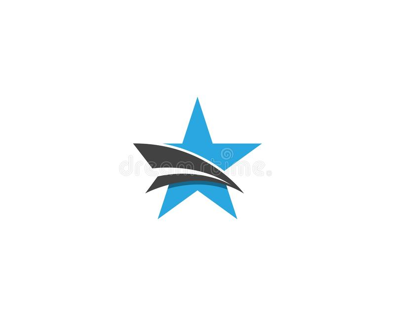 Red and blue Star business Logo Template vector icon vector illustration