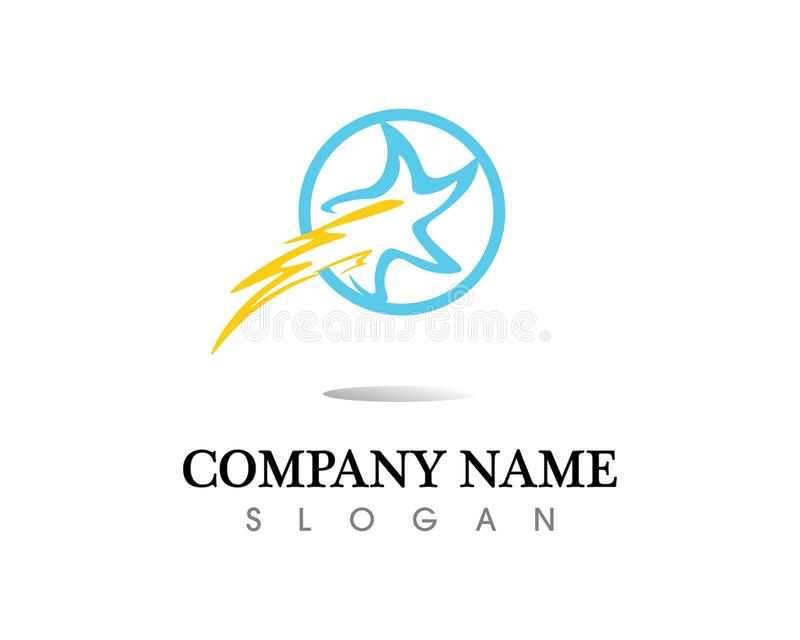 Red and blue Star falcon Logo Template vector icon royalty free illustration