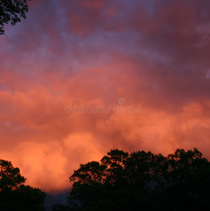 Red And Blue Storm Clouds Royalty Free Stock Images
