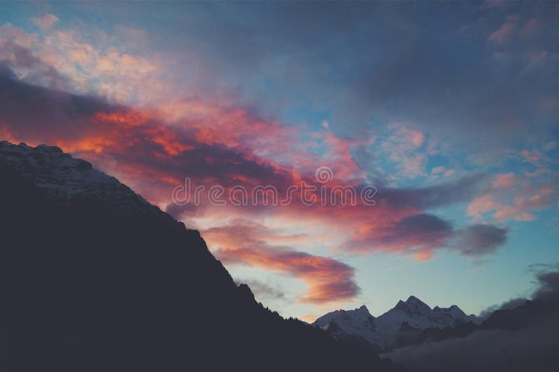 Red And Blue Sunset Sky Free Public Domain Cc0 Image