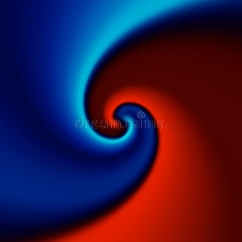 Red and blue swirl background. Abstract vector illustration vector illustration