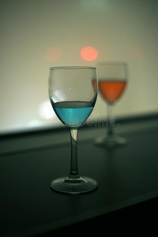 Red And Blue Vodka Drink Royalty Free Stock Photo