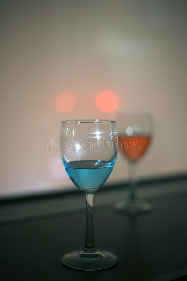 Red and blue vodka drink