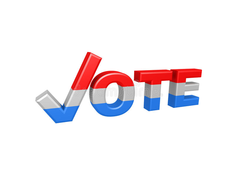 Download Red And Blue Vote Check Symbol Stock Illustration - Image: 23699454