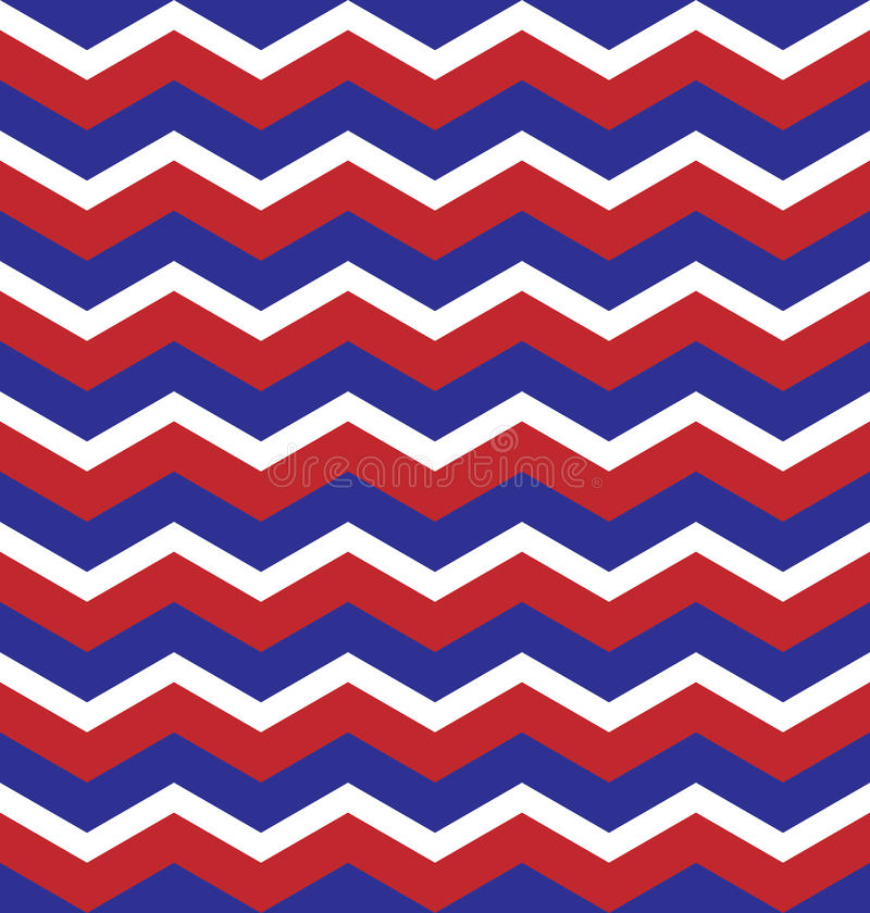 Red Blue White Zigzag pattern seamless background royalty free stock image