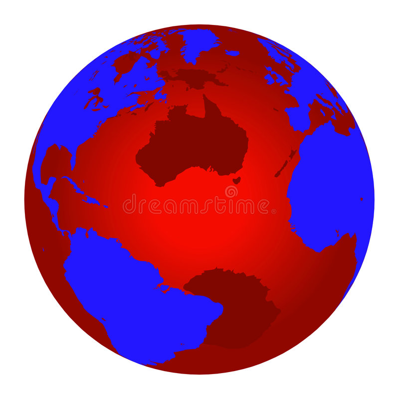 Download Red and blue world globe stock vector. Image of bussiness - 2310636