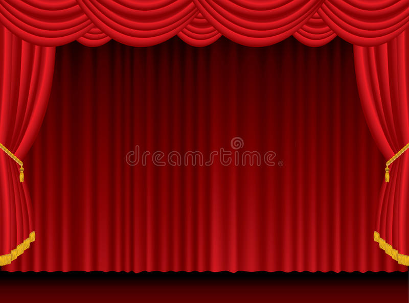Red Blur Curtain Stock Image
