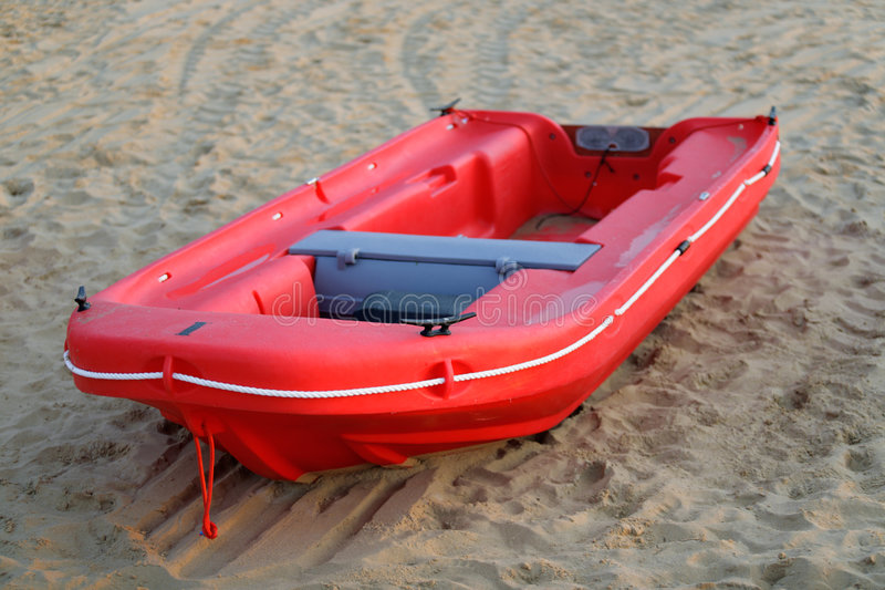 Download Red boat stock image. Image of transport, shore, rope - 7688555
