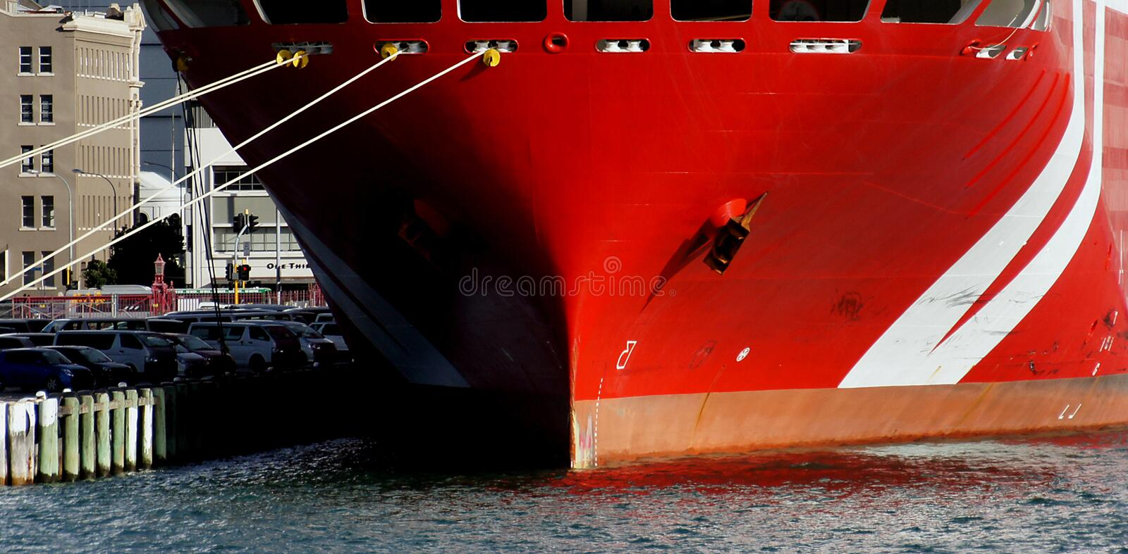 Red Boat Bow. Free Public Domain Cc0 Image
